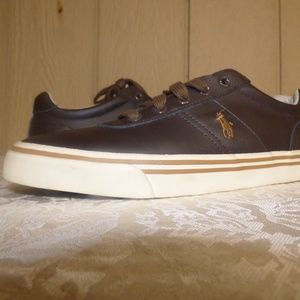 Polo Ralph Lauren Hanford Leather Sneakers, Brown
